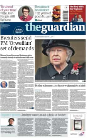 Guardian front page 13/11/17