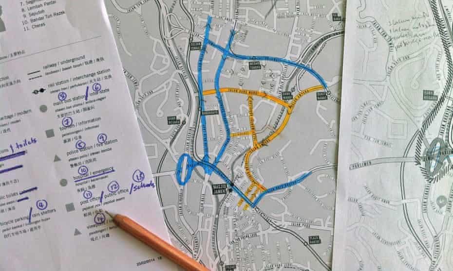 """""""Cycling not for leisure, but for transportation, for utility"""" ... the workings of Jeffrey Lim's cycle map of Kuala Lumpur."""