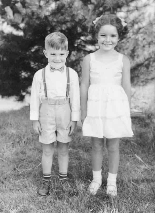 Bruce Jenner with older sister Pam in 1954.