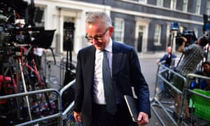 Michael Gove leaving 10 Downing Street