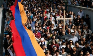Tens of thousands of commemorate the victims of the 21915 Armenian genocide in Yerevan on Tuesday.