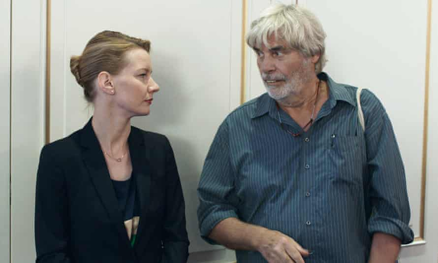 'Dysfunctional family wounds': a 'breathtaking' Sandra Hüller plays career woman Ines, with 'splendidly bedraggled' Peter Simonischek as her father, Winfried.