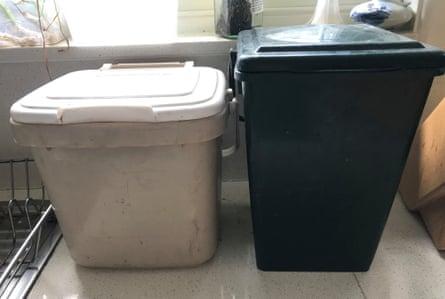 Costa's kitchen scrap bins