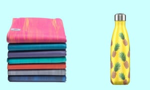 Find an all-rubber or jute yoga mat and a BPA-free water bottle.