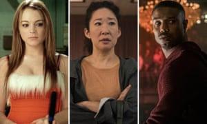 Lindsay Lohan in Mean Girls, Sandra Oh in Killing Eve, and Michael B Jordan in Creed II.