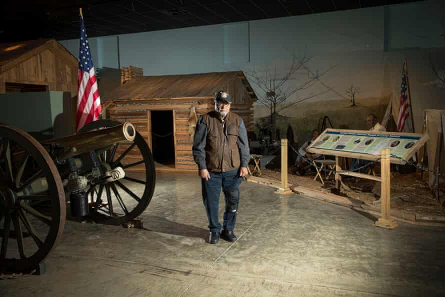 Jim Hunn inside the civil war museum at Camp Nelson.