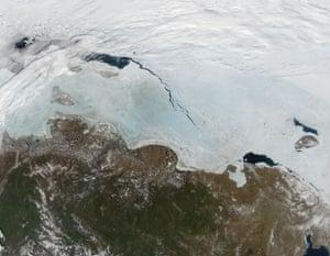 Ice in the East Siberian Sea