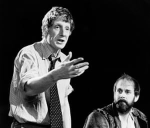 Jonathan Miller directing Taming of the Shrew, with John Cleese, in 1980.