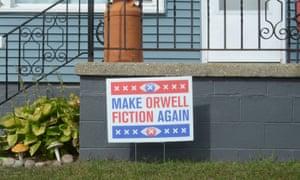 A sign of anti-Trump sentiment in Racine, Wisconsin.