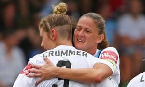 Larissa Crummer scored twice in Melbourne City's 4-0 win over Melbourne Victory.