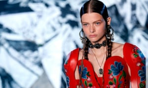 Models wore outfits that were both romantic and empowered at McQueen's Paris show.
