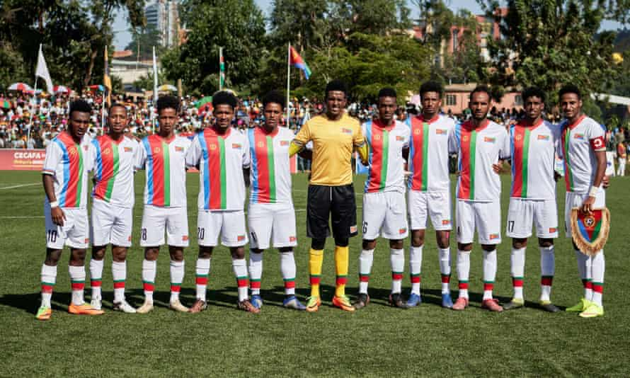 The Eritrea team that started the Cecafa Cup final in December 2019.