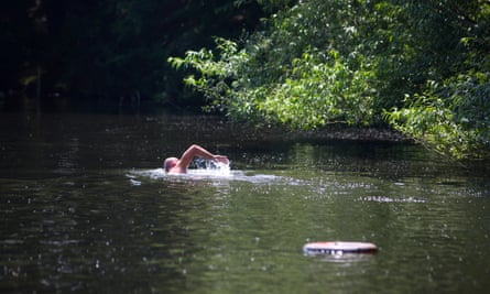 Bathers at Hampstead Ponds Hampstead Heath.