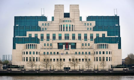 The MI6 building in central London.