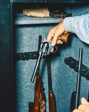 Richard Craig's gun safe.