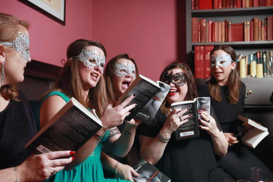 Women in a London book group discuss the new EL James novel, Darker.