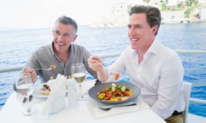 Steve Coogan and Rob Brydon filming The Trip ... moments before a cameraman nicked a handful.