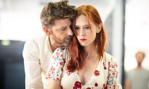 Cheeky rewrite … Paul Anderson and Audrey Fleurot rehearsing Tartuffe in Christopher Hampton's new translation and adaptation.