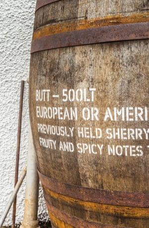 The whisky's flavour is influenced by the cask it matures in