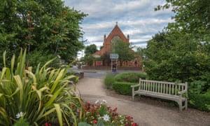 Sleepy suburbia … St Mark's church in Farnborough.