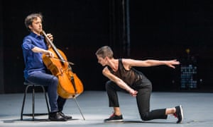 'Each movement glances off the one before' … Jean-Guihen Queyras (cello) and Marie Goudot in Mitten Wir Im Leben Sind (In the Midst of Life) by Rosas.