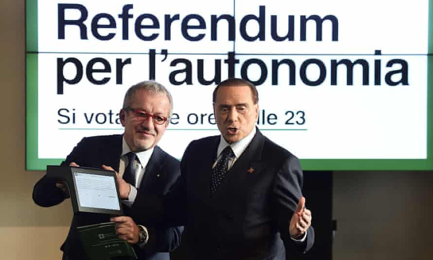 Roberto Maroni and Silvio Berlusconi