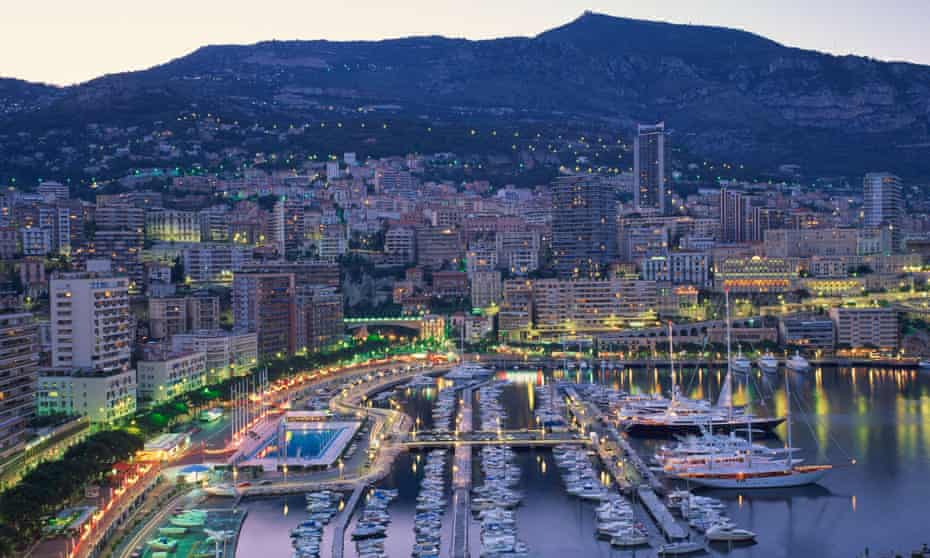 Monte Carlo, capital of Monaco, which has beaten Zurich and Geneva for the highest amount of millionaires in Europe.