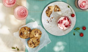 Thomasina Miers' cherry fool and rye  chocolate chip cookies.