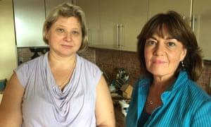 Jane Corbin (right) with Viktoria Skripal in Salisbury Nerve Agent Attack: The Inside Story.