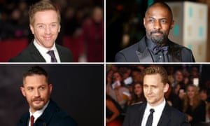 Possible Bond actors clockwise from top left: Damian Lewis, Idris Elba,Tom Hiddleston and Tom Hardy