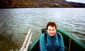 Libby Brooks en route to the isolated bothy at Kearvaig, Cape Wrath on Scotland's northern coast where shepherds found Margaret Davies emaciated and starving in 2002. She was airlifted to hospital, but died later.