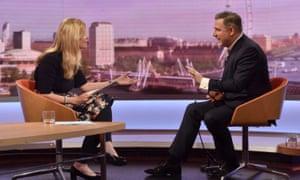 Barry Gardiner on the Andrew Marr Show with Emma Barnett