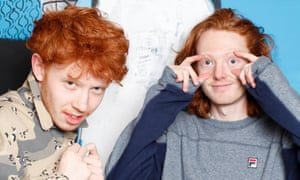Archy and Jack Marshall at home in south London.