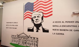 The image greeting child migrants at the Casa Padre detention facility in Brownsville, Texas.