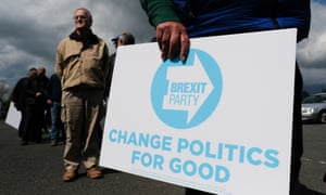 A campaign event for the Brexit party in Houghton-le-Spring on 11 May.