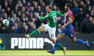 Glenn Murray scores Brighton's first goal in their 2-1 win over Crystal Palace at Selhurst Park.