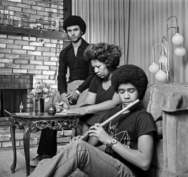 Toni Morrison with her sons Slade and Ford in December 1978