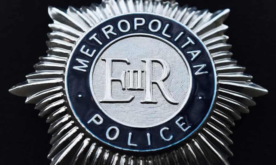 The London Metropolitan police badge