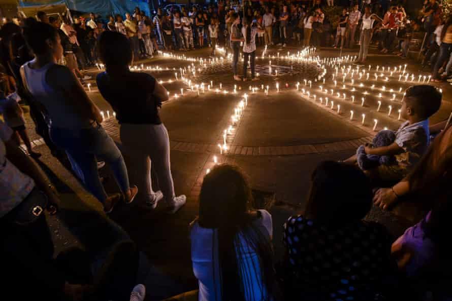 People gather in Suarez to honour mayoral candidate Karina García