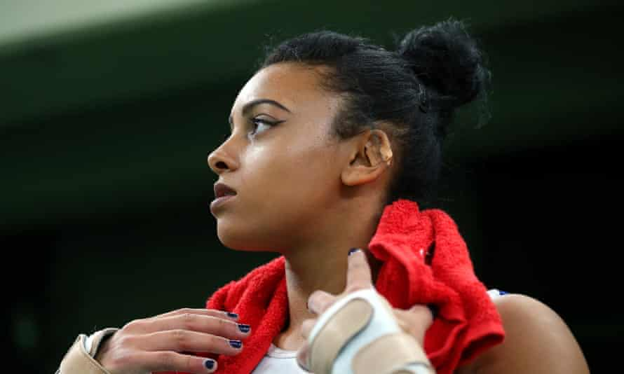 Ellie Downie heard a crack in her neck after a crash to the mat when she misjudged a tumble, but she was uninjured.