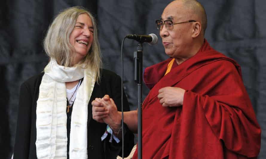 Dalai Lama and Patti Smith at Glastonbury