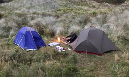 Lighting up time: midge nets and wild camping on the far north coast