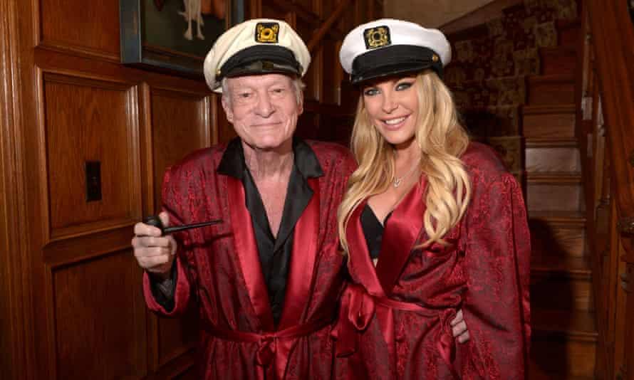 Hugh Hefner and Crystal Hefner at The Playboy Mansion