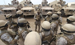 Saudi forces in Yemen's southern port city of Aden. Australian weapons are being shipped to the Saudis and their UAE allies waging war in Yemen.