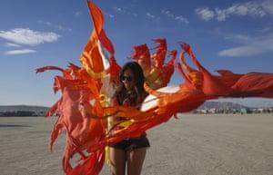 Julia Kwinter dances on the Playa