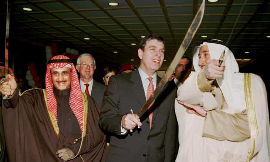 Prince Andrew at a British trade fair in Kuwait in 2000.
