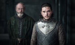 About time, too … Davos and Jon Snow.
