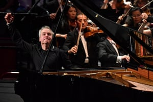 Wit and delicacy … Jeremy Denk performs in the Albert Hall.
