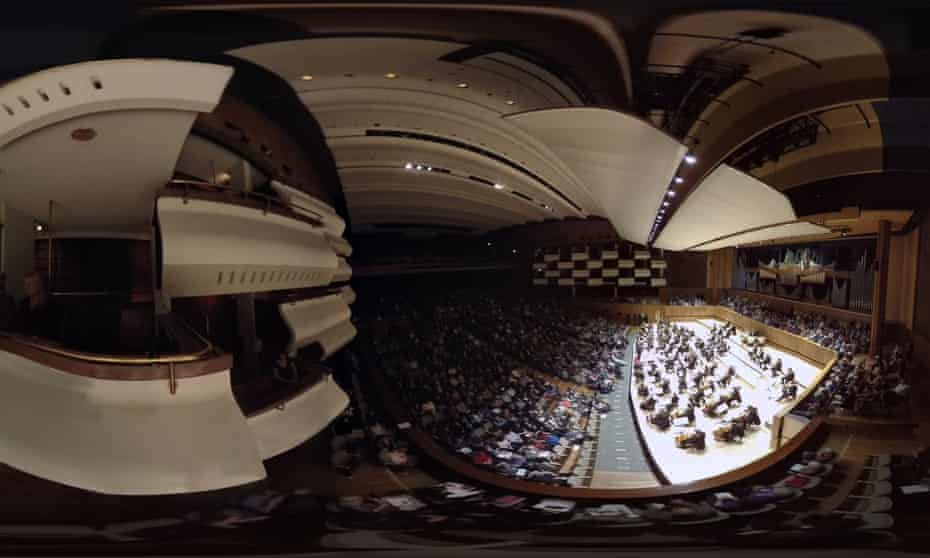 The 360-degree virtual reality view of the Philharmonia Orchestra at the Southbank Centre.