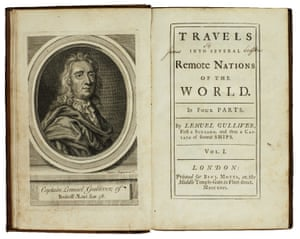 1726 first edition of Jonathan Swift's Gulliver's Travels.